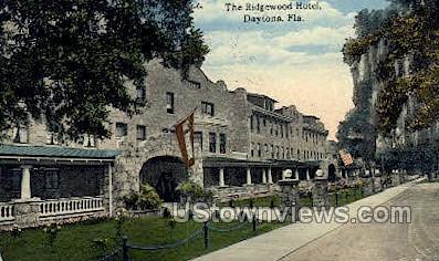 Ridgewood Hotel - Daytona, Florida FL Postcard