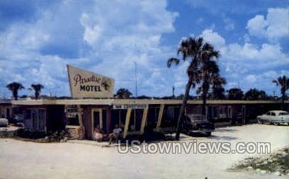 Paradise Motel - Daytona, Florida FL Postcard