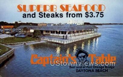Captain's Table - Daytona, Florida FL Postcard