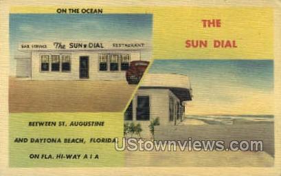 The Sun Dial - Daytona, Florida FL Postcard