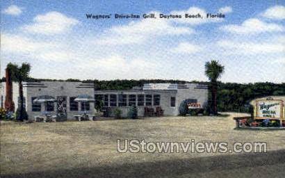 Wagner's Drive-Inn Grill - Daytona, Florida FL Postcard