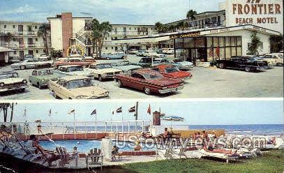 New Frontier Beach Motel - Daytona, Florida FL Postcard