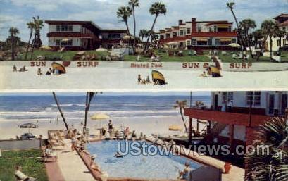 Sun & Surf Apt Motel - Daytona, Florida FL Postcard