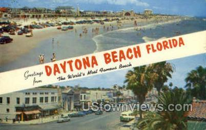 Daytona, Florida, FL, Postcard
