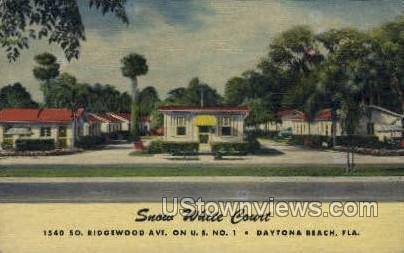 Snow White Court - Daytona, Florida FL Postcard
