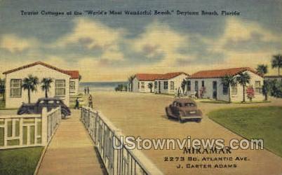 Tourist Cottages - Daytona, Florida FL Postcard