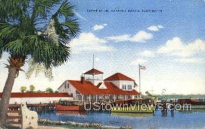 Yacht Club - Daytona, Florida FL Postcard