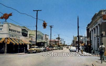 Business District - Daytona, Florida FL Postcard