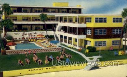Saxony Apt Motel - Daytona, Florida FL Postcard