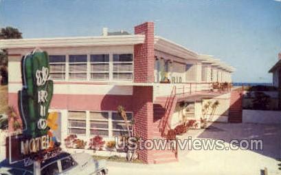 El Rio Motel - Daytona, Florida FL Postcard