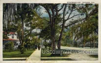 Ridgewood Ave - Daytona, Florida FL Postcard