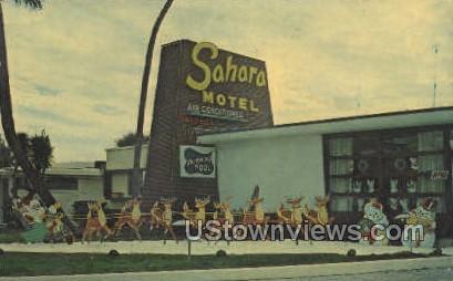Sahara Motel - Daytona, Florida FL Postcard