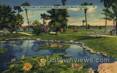 Waterfront Park - Daytona, Florida FL Postcard