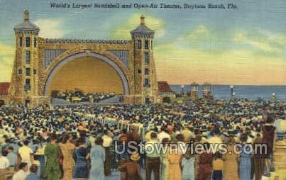 Open-Air Theater - Daytona, Florida FL Postcard