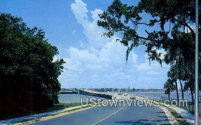New South Bridge - Daytona, Florida FL Postcard