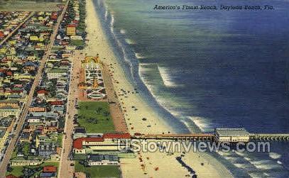 Beach - Daytona, Florida FL Postcard