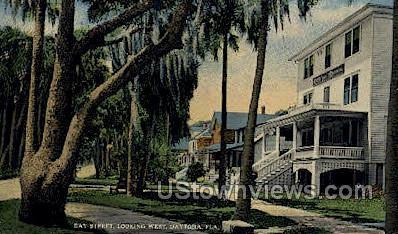 Bay Street - Daytona, Florida FL Postcard