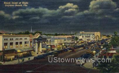 Beach Street - Daytona, Florida FL Postcard