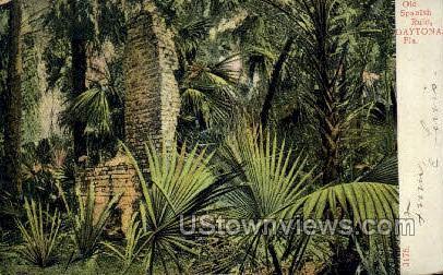 Old Spanish Ruin - Daytona, Florida FL Postcard