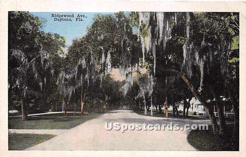 Ridgewood Avenue - Daytona, Florida FL Postcard