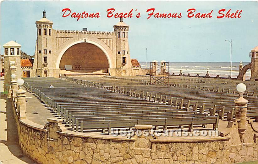 Band Shell - Daytona Beach, Florida FL Postcard