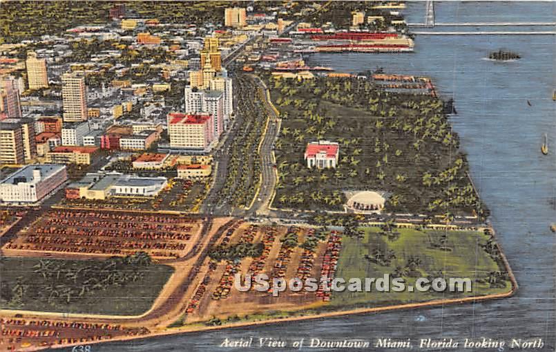 Downtown Miami, Florida FL Postcard