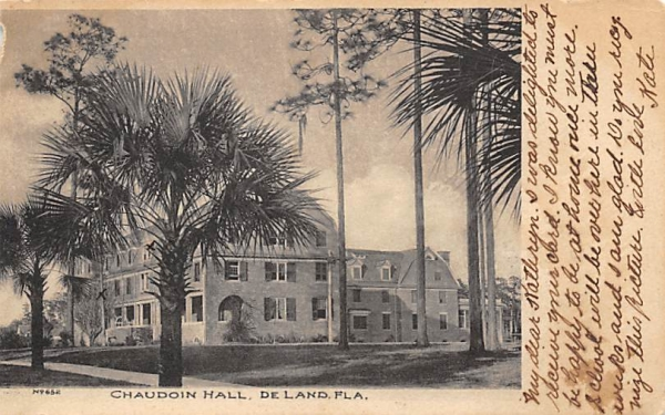 Chaudoin Hall De Land, Florida Postcard