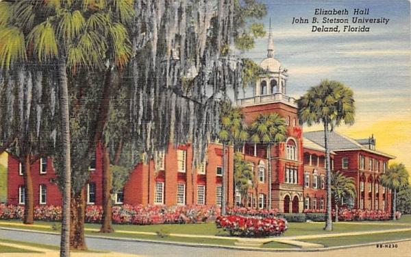 Elizabeth Hall, John B. Stetson University De Land, Florida Postcard