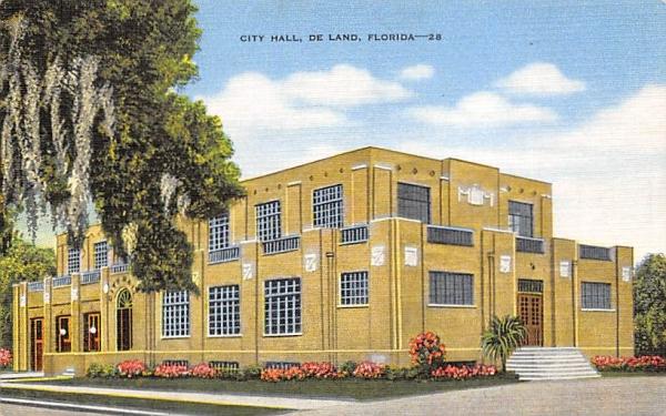 City Hall De Land, Florida Postcard