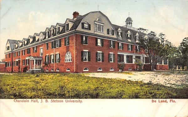 Chandoin Hall, J. B. Stetson University De Land, Florida Postcard
