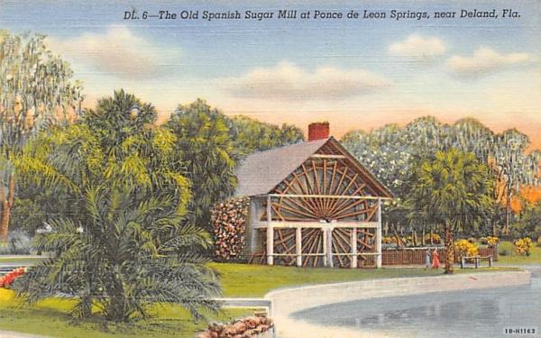 The Old Spanish Sugar Mill De Land, Florida Postcard