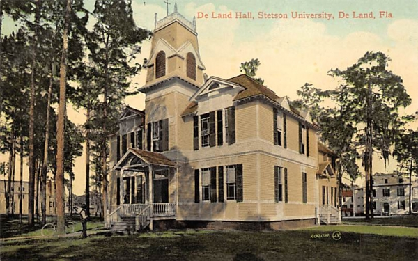 De Land Hall, Stetson University Florida Postcard