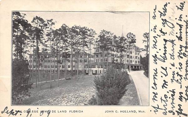 The College Arms De Land, Florida Postcard