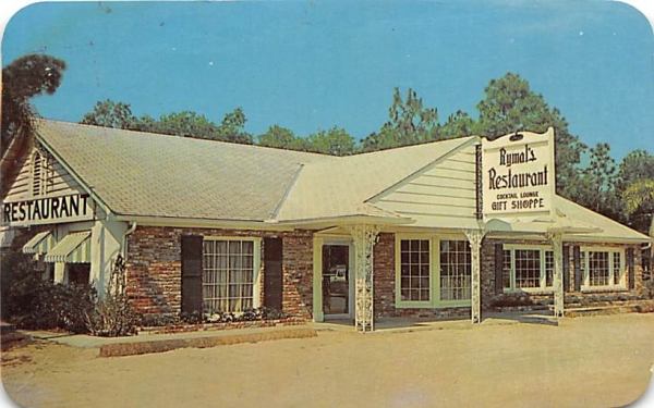 Rymal's Restaurant De Land, Florida Postcard