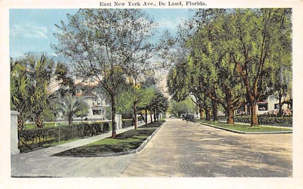 East new York Ave. De Land, Florida Postcard