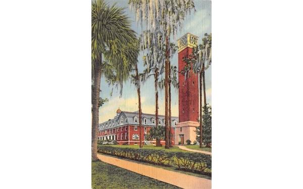 Chaudoin Hall and Hulley Tower De Land, Florida Postcard