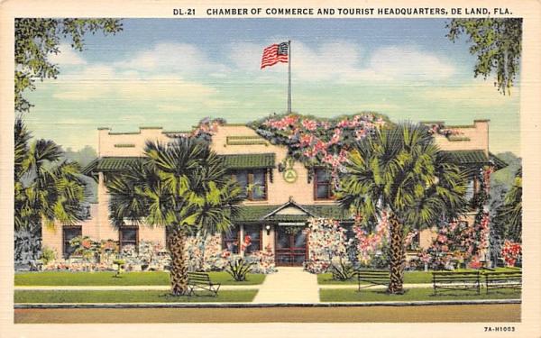 Chamber Of Commerce De Land, Florida Postcard