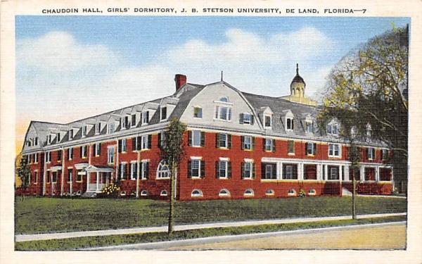 Chaudoin Hall, Girls' Dormitory De Land, Florida Postcard