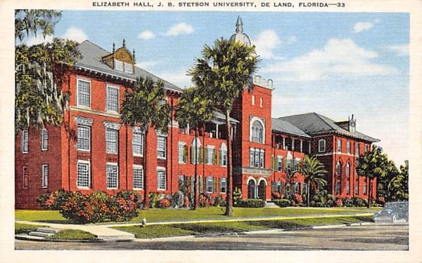 Elizabeth Hall De Land, Florida Postcard