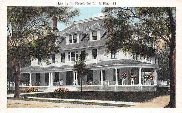 Lexington Hotel De Land, Florida Postcard