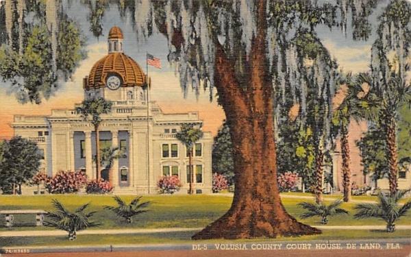 Volusia County Court House De Land, Florida Postcard