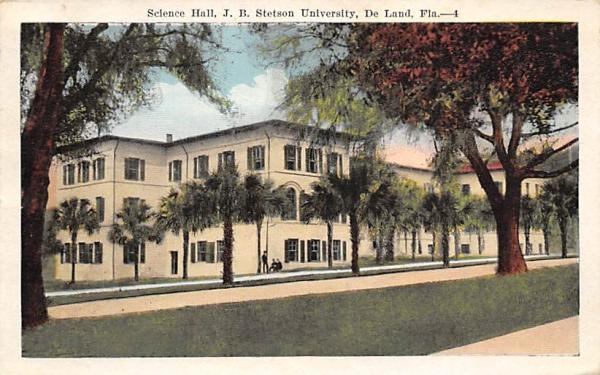 Science Hall De Land, Florida Postcard