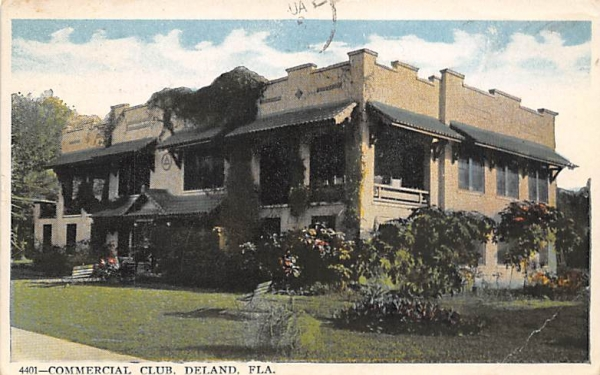 Commercial Club De Land, Florida Postcard
