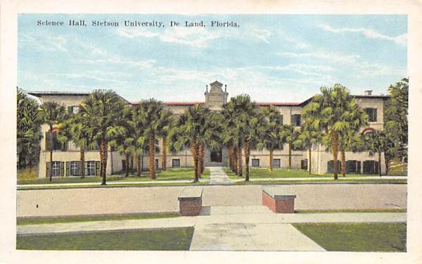 Science Hall, Stetson University De Land, Florida Postcard