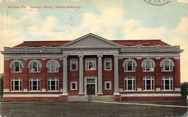 Carnegie Library, Stetson University De Land, Florida Postcard