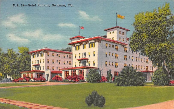 Hotel Putnam De Land, Florida Postcard