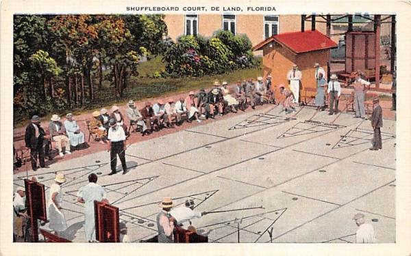 Shuffleboard Court De Land, Florida Postcard