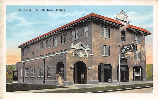 De Land Hotel Florida Postcard