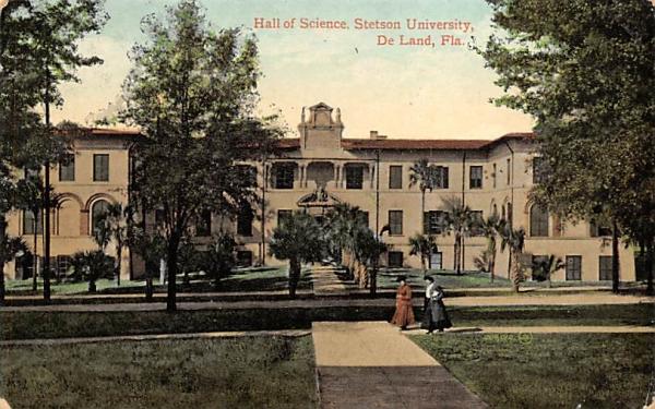 Hall of Science, Stetson University De Land, Florida Postcard