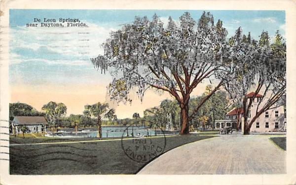 Near Daytona, De Leon Springs Florida Postcard